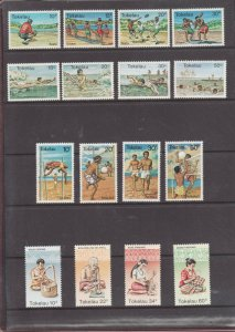 Tokelau Collection in book - 17 MNH sets #65 // #177a  - Superfleas - cv $80 USD