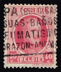 Belgium #156 King Albert I; Used (0.25)