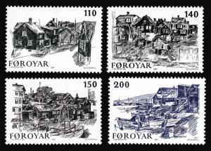 Faroe Is. Old Torshavn Views 4v SG#58-61 SC#59-62