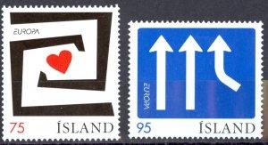 Iceland Sc# 1073-1074 MNH 2006 Europa