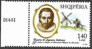[E45]- Albania 2016, 400th death anniversary; Miguel de Cervantes. Gim. 3694 MNH