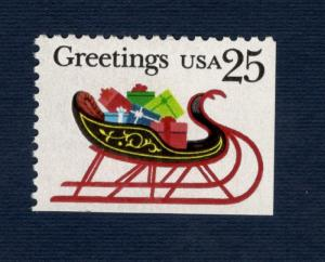 2429 Christmas Sleigh & Presents US Booklet Single Mint/nh FREE SHIPPING