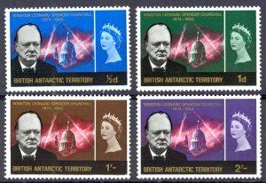 British Antarctic Territory Sc# 16-19 MNH 1966 Churchill Memorial Issue