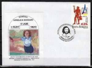 Romania, 1996 issue. 08/MAR/96. Table Tennis cancel on a Cachet Envelope.