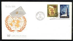 UN New York 147-148   FDC Unused 1965 PD