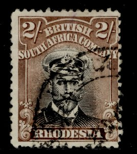 RHODESIA GV SG273, 2s black and brown, USED. Cat £21.
