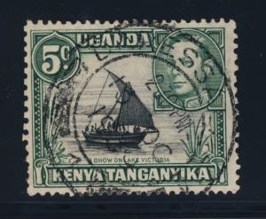 K.U.T. / TANGANYIKA 1939 SG132 CANCELLED DARESSALAAM DATE STAMP