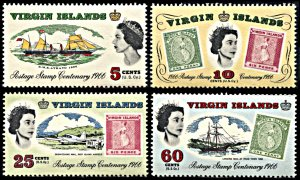 Br Virgin Islands 169-172, MNH, Centennial of Virgin Islands' Stamps