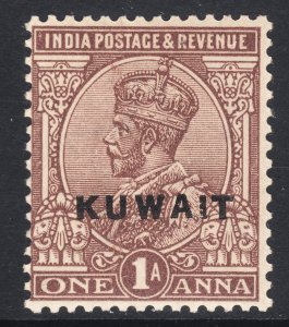 1923 - 1924 British Kuwait KGV 1 Anna issue MNH Sc# 2 Wmk 39 CV $12.00