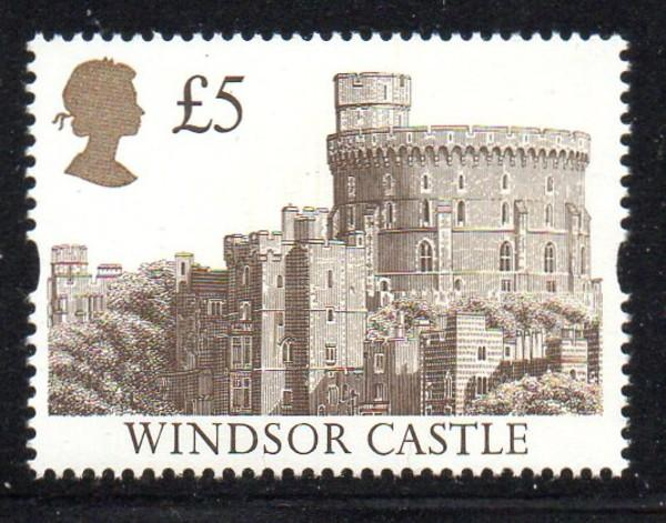 Great Britain Sc 1448 1992 £5 Windsor Castle stamp mint NH