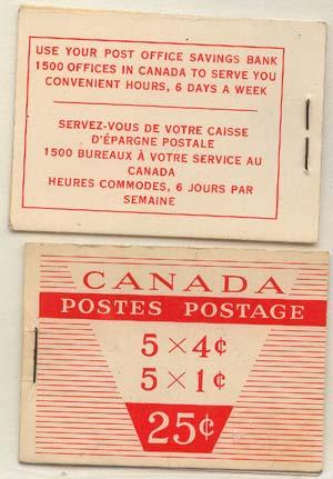 Canada - 1956 QE Wilding Booklets 2 Diff Covers #BK51a/b