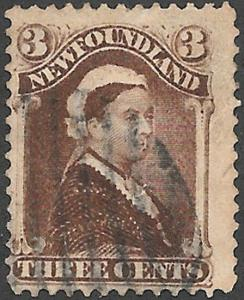 Newfoundland Scott Number 51 Umber Brown F Used