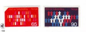 Norway Sc 547-8 1969 Census stamps NH