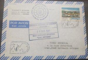 U) 1987, URUGUAY, CIENTIFIC ANTARTIC BASE, AIR MAIL, COVER