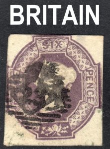 Great Britain Scott 7a dull violet  F+  used. A very beautiful looking stamp.