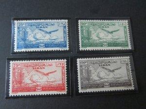 Lebanon 1946 Sc C111-4 Bird set MH