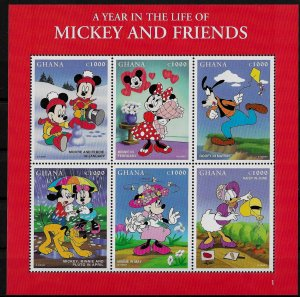 Ghana MNH S/S Disney's Mickey & Friends 1998