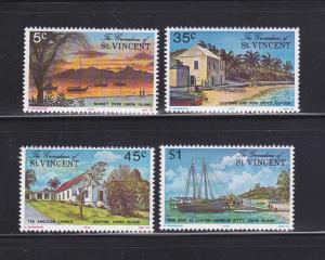 St Vincent Grenadines 73-76 Set MNH Scenes (B)
