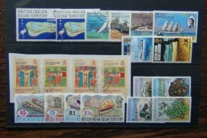 BIOT 1969 1975 Coral Ships Easter Post Office Wildlife Used