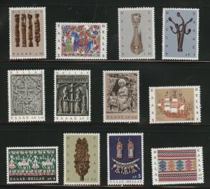 GREECE Scott 864-875 MNH** 1966 set of 12