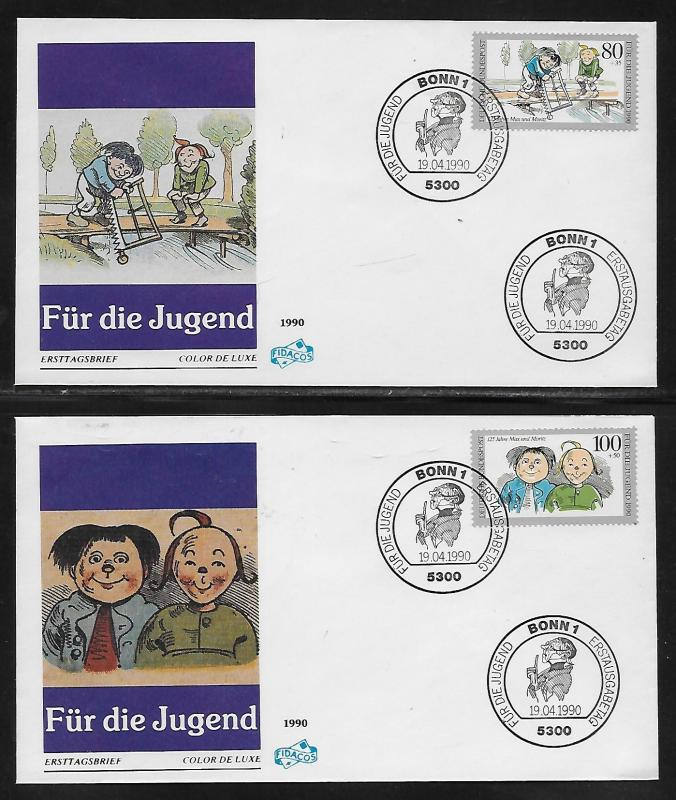 Germany B689-92 Youth Stamp Foundation Unaddressed FDC
