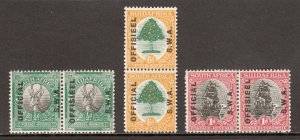 South West Africa - Scott #O9-O11 - MNH - SCV $5.10+