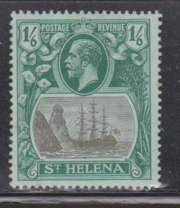 ST HELENA Scott # 96 MH - King George V & Badge Of The Colony