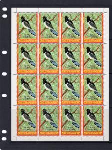 Timor (Ocussi-Ambeno) 1981  Birds ovpt.Royal Wedding SG# RW1 Mini-Sheetlets (2)