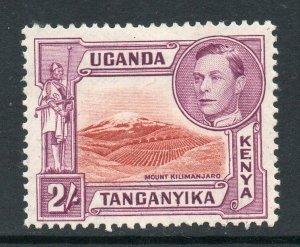 KUT 1938 KGVI 2/- perf 13¾x13¼ SG 146b mint CV £50