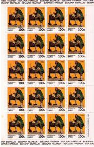 ZAIRE Sc# 1009 MNH FVF 20 Sheet Norman Rockwell Paintings