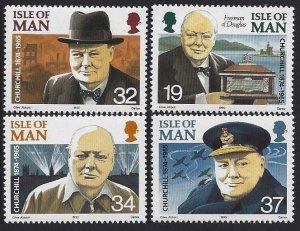 1990 Isle of Man 438-441 Winston Churchill