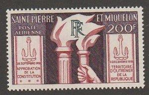 ST. PIERRE & MIQUELON #C23 MINT HINGED