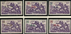 French Togo Hunter Overprint (Sc 303-08) F-VF MNH...Quality Bargains!