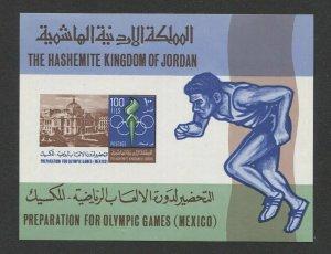 R626 - JORDAN 1967 100 fils MEXICO OLYMPICS S/S, SG MS803, cv £27 / $35