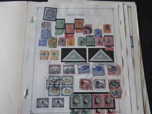 South Africa Classic Stamp Collection on Album Pages