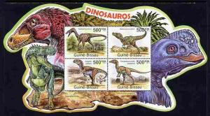 Guinea-Bissau MNH S/S Dinosaurs Special Shape 2011
