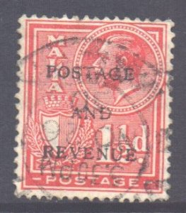 Malta Scott 153 - SG179, 1928 Postage and Revenue Overprint 1.1/2d used