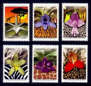 Curacao Sc# 198-203 MNH World Orchid Conference