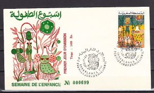 Morocco, Scott cat. 342. Child`s Art issue. First day cover. ^