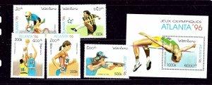 Laos 1254-59 MNH 1996 Olympics