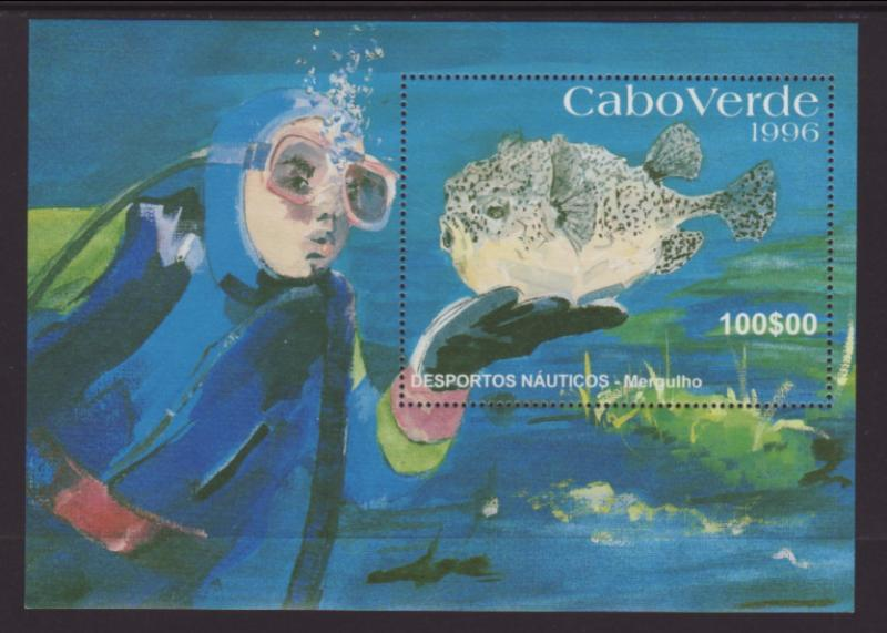 Cape Verde 709 Fish Souvenir Sheet MNH VF