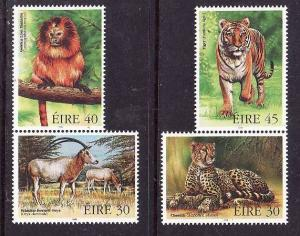 Ireland-Sc#1156a-unused NH stamps from souvenir sheet-Endangered Animals-1998-