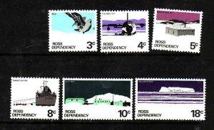 Ross Dependency-Sc#L9-14- id5-unused NH set-Ships,Planes-Scott base-1972-