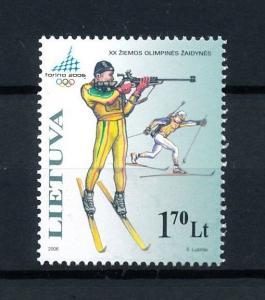 [92407] Lithuania 2006 Olympic Games Turin Torino Biathlon  MNH