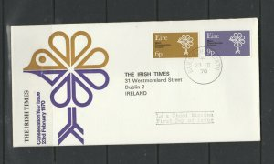 Ireland FDC, Times cover, 1970 Conservation year, addressed to the Times