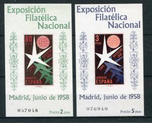 Spain 1958 blocks 13 and 14 sheets  VF NH