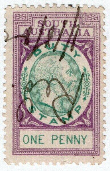 (I.B) Australia - South Australia Revenue : Stamp Duty 1d