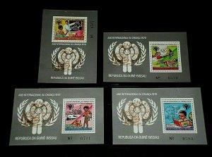 EQUATORIAL GUINEA, DAY OF THE CHILD, SET/4, SOUVENIR SHEETS, MNH, NICE! LQQK!