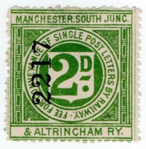 (I.B) Manchester, South Junction & Altrincham Railway : Letter Stamp 2d