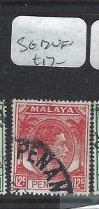 MALAYA PENANG  (P0704BB)  KGVI   12C SG 12  VFU